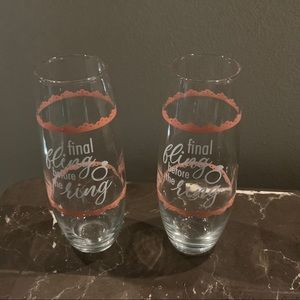 NEW final Fling Before The Ring Glass 2 Set